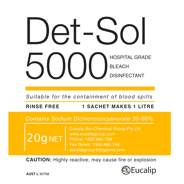 Det-Sol 5000 - Eucalip Group Hospital-Grade Disinfectant
