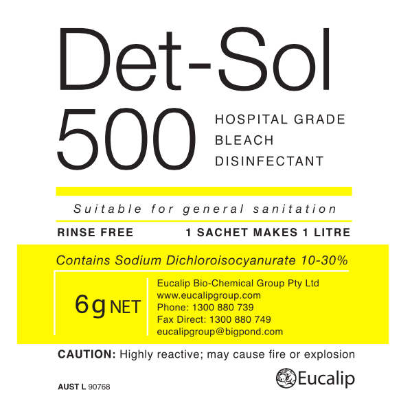 Det-Sol 500 - Eucalip Group Hospital-Grade Disinfectant