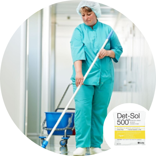 Det Sol 500 - Disinfectant for Hospitals, Institutions, Pathology, Medical, Disaster Aid