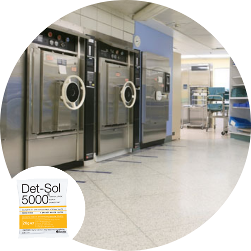 Det Sol 5000 - Disinfectant for Hospitals, Institutions, Pathology, Medical, Disaster Aid